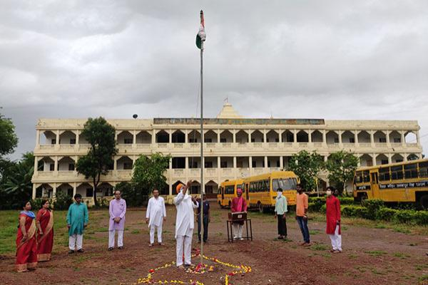 Maharishi Vidya Mandir Panna celebrated Auspicious Occasion of Independence Day on 15th August 2020.